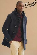 GLOVERALL BLACK MID LENGTH DUFFLE COAT SIZES 46 RRP £325