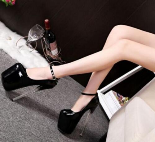 19CM Womens Platform Round Toe High Heels Shoes Stilettos Clubwear Sandals Pumps