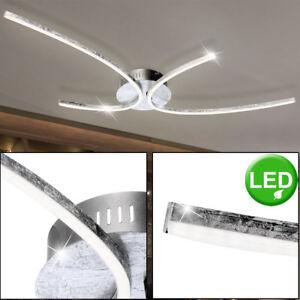 Details About Design 30 W Eclairage De Plafond Led Salon Lampe Sur Le Sol Argent Courbe Eek A