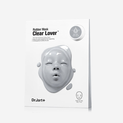 Dr.Jart+ Clear Skin Lover Rubber Mask 1.5 oz/43g + Appoule 0.7 oz/5ml K-beauty