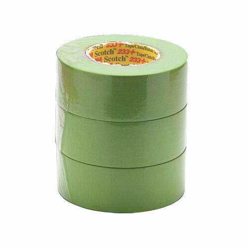 Masking Tape 250 Deg F Performance Temp 55m x 72mm Green 233 Pack of 1