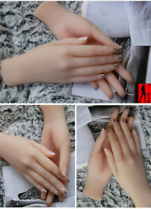 Realistic Silicone  Female Hand Model Prop Mannequin for Jewelry Glove Displays