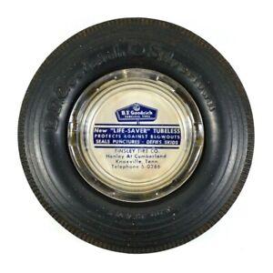 Vtg 1950's B F Goodrich Life Saver Tubeless Tires Ashtray Advertising Tinsley
