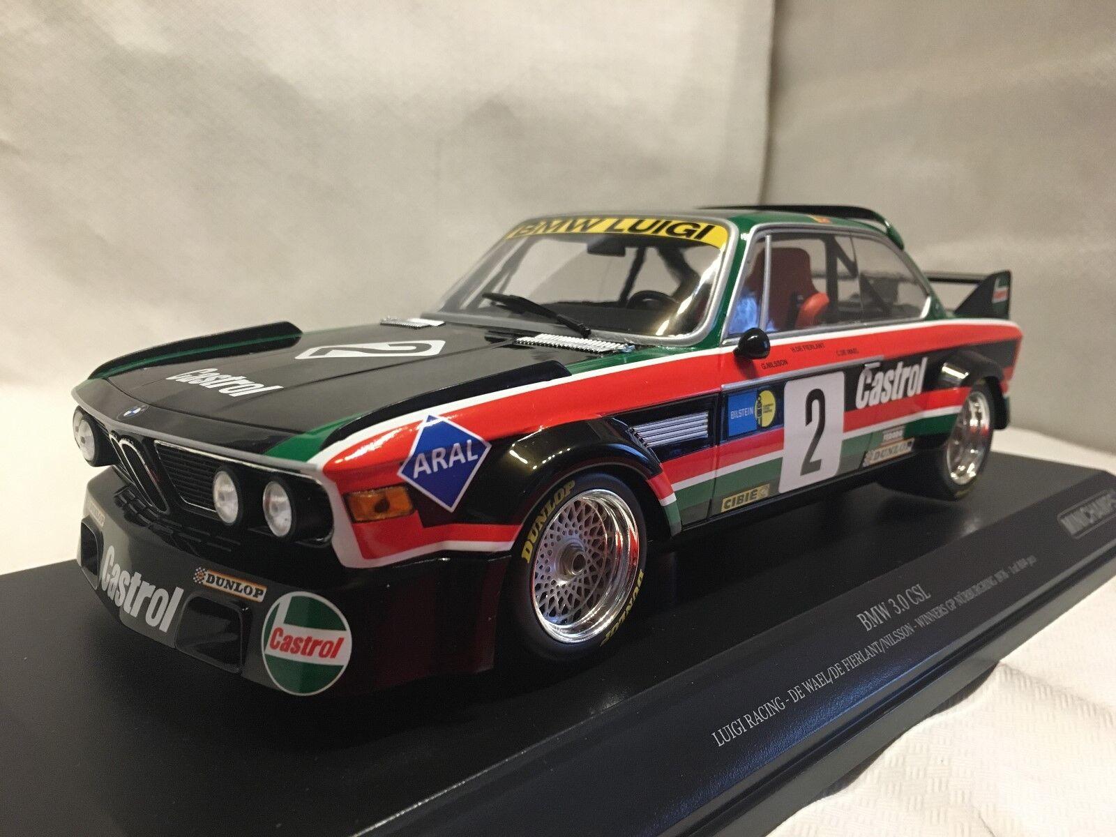 BMW 3.0 CSL WINNER GP NURBURGRING 1976 1 18 Minichamps Nuovo & Ovp 155762502