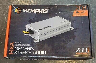 Memphis Audio MXA2.140 280W Marine Audio Class-D 2-Channel Amplifier MXA2140