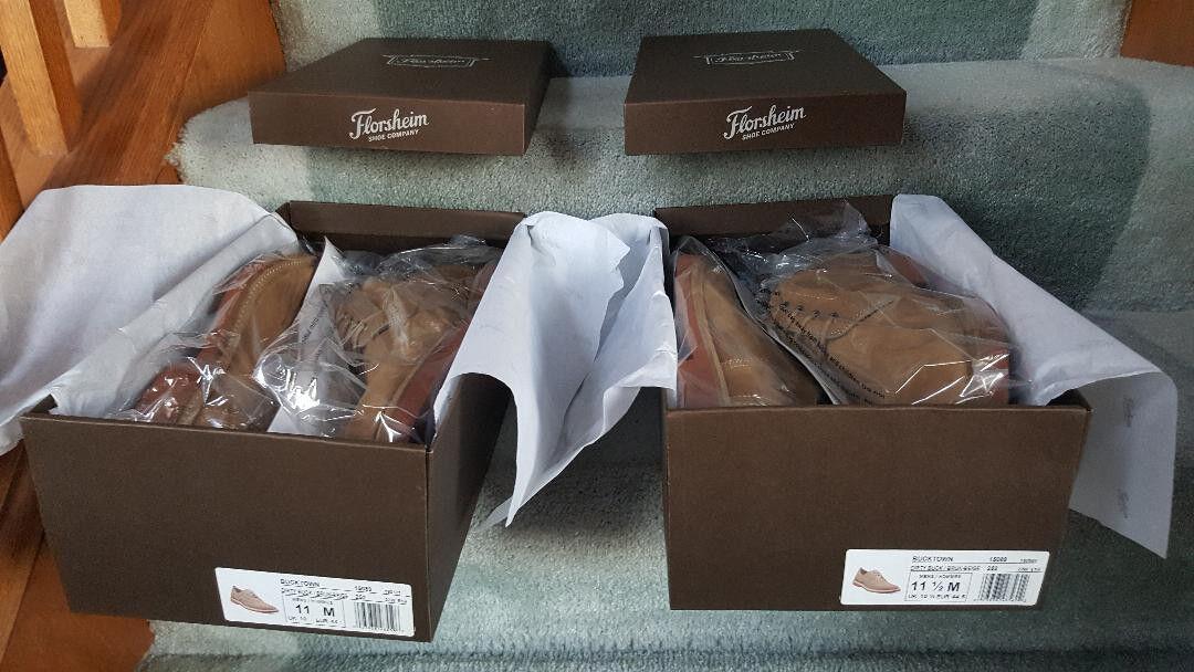 Florsheim Homme Chaussures Bucktown Plain Toe Oxford Sale Buck 15089-252 - Neuf