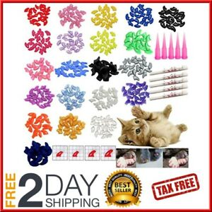 quot 100 pieces cat nail caps tips pet cat kitty soft claws