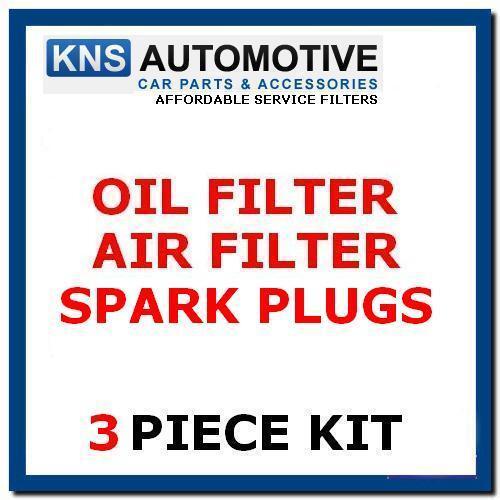 Fiat 500 1.2 8v Petrol 69bhp 07-16 Plugs Air /& Oil Filter Service Kit