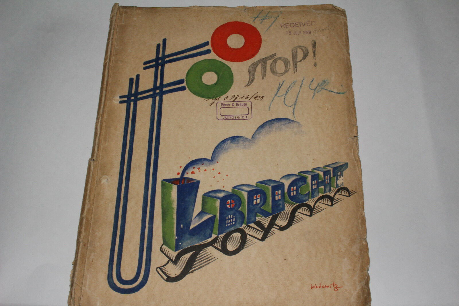 1929 Sales Catalog,  Ulbricht Toys , Made in Germany, Original 78 pages