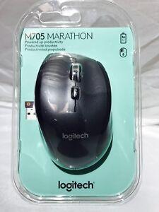 Details about Logitech Marathon M705 Wireless Mouse, Black New