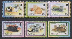 Jersey - 2002, Caesarea Cat Club set - MNH - SG 1060/5