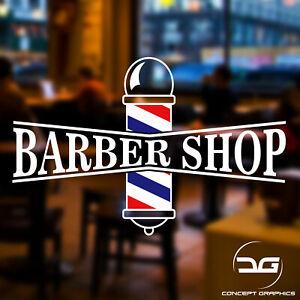 Barber Shop Pole Turkish Hair Salon Shop Window Wall Vinyl ...