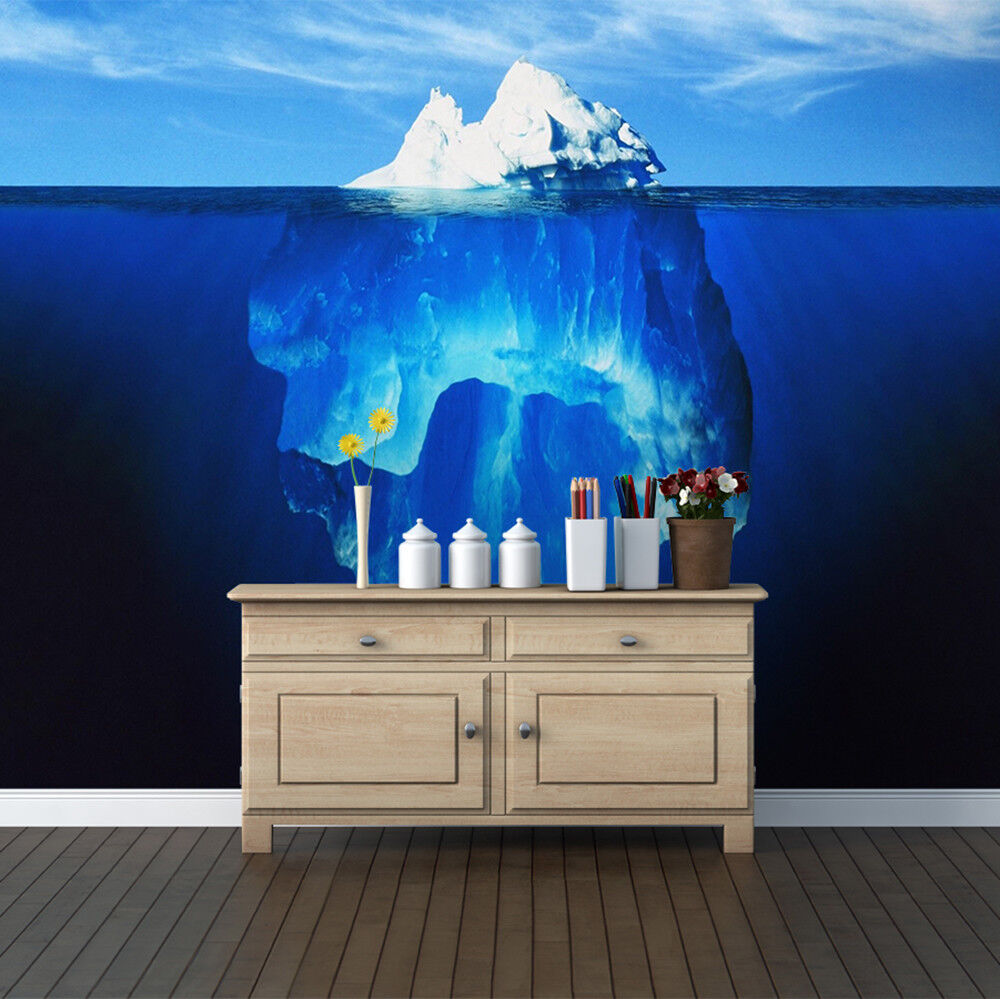 Iceberg Polar Ocean Wallpaper Mural Photo Pattern Wall Home Room Poster Decor