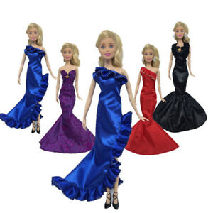 Fashion-Ruffle-Wedding-Party-Gown-Mermaid-Dresses-Clothes-For-Doll-GiftBICA