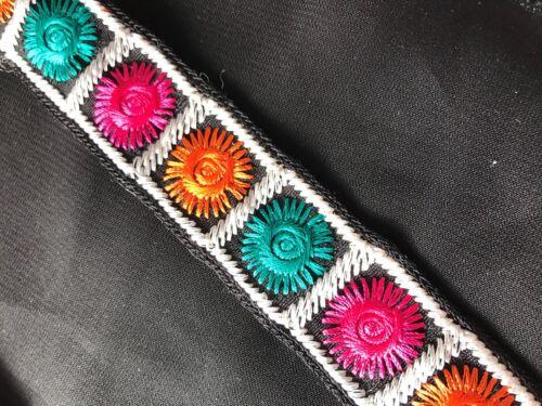 """1.1//4/"""" 16 Colores de encaje bordado de recorte//Multi X 1 metros 30mm"""