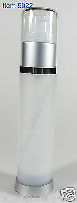 50 Airless Refillable Frost Empty Pump Lotion Serum Treatment Bottles 50ml #5022