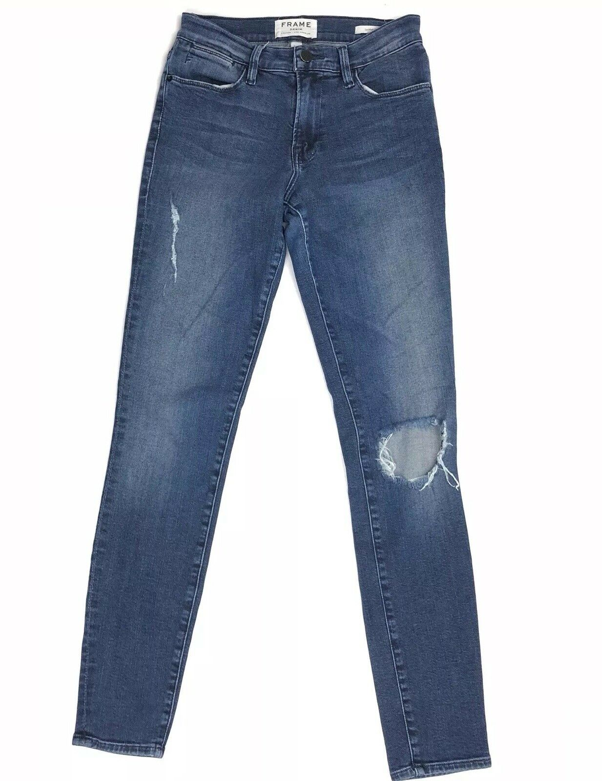 Frame Denim Le High Skinny Distressed Women's bluee Jeans Size 25 X 28.5