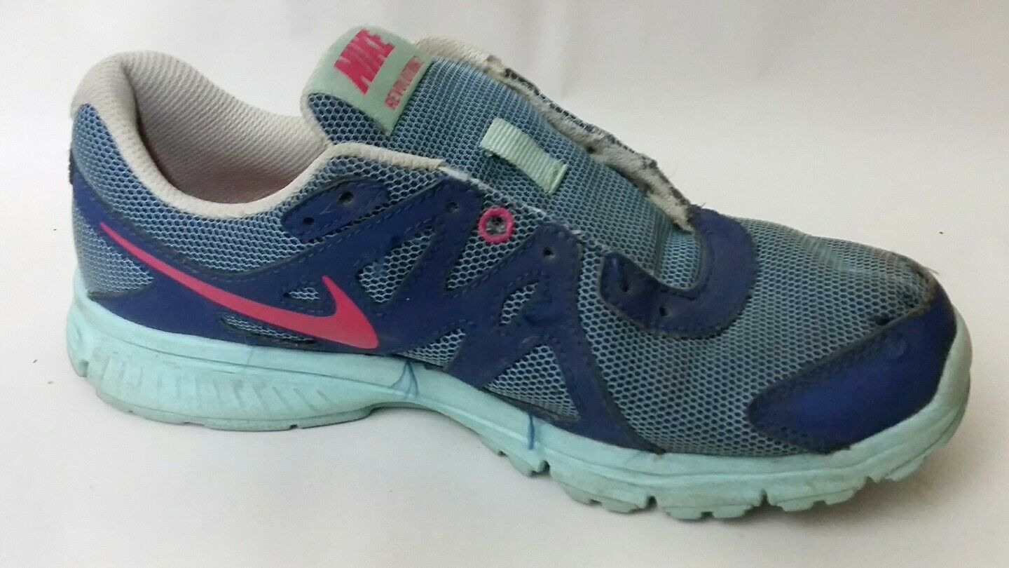 7b55de3ffc Nike Revolution 2 Girls 4 Youth Running Shoes 555090-504 Blue Pink Navy  Sneakers | eBay