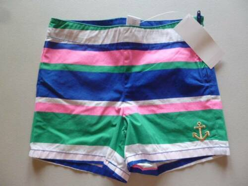 Gymboree Stripes /& Anchor Green//Blue//Pink//White Striped Shorts Size 4 6 NEW