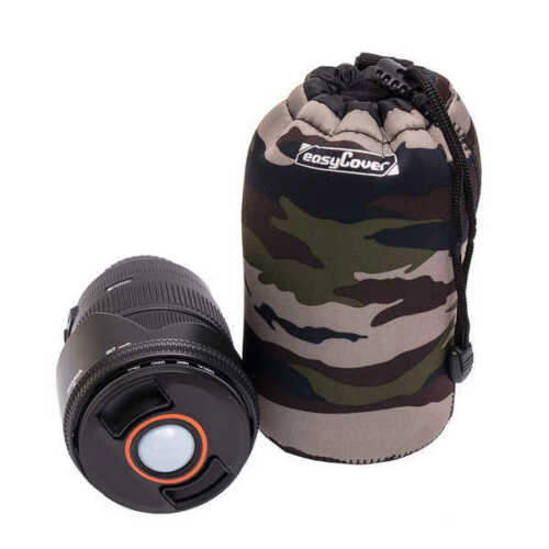 BNIP #JU1523C Easycover Neoprene Lens Case LARGE in Camouflage UK Stock