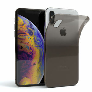 Ultra-Slim-Cover-fuer-Apple-iPhone-X-XS-TPU-Case-Silikon-Huelle-Schwarz