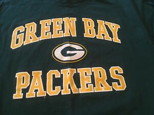 NFL Green Bay Packers Logo T Shirt Mens Available in Grey or Green