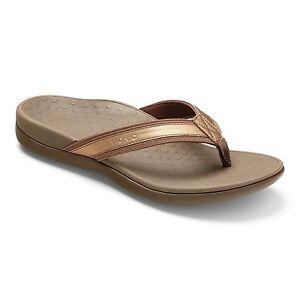 Damens Vionic Flop Orthaheel Tide II Flip Flop Vionic Sandale 44TIDEII Bronze 7186fc