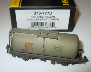 Graham-Farish-373-777D-45t-TTA-Tank-Wagon-Shell-BP-Weathered-gt-NEU-OVP
