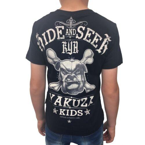 """Yakuza-Bambini T-shirt TSB 10402 Kids /""""Hide and Seek/"""" dark navy blu nero"""