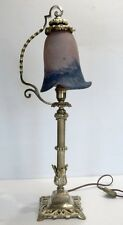Superbe LAMPE SUR PIED en Bronze avec Tulipe en Pâte de Verre