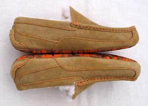 UGG Ascot Chestnut Orange Stitch Suede Leather Fashion Holiday Shoe Warm Men's 9