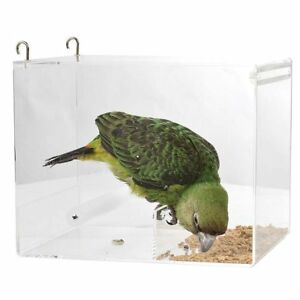 Parrot Food Mate Acrylic Less Mess Mess Feeder Large 5055459607497