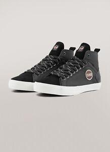 Sneakers-Uomo-Colmar-Durden-Drill-Scarpe-Martellata-Stivaletto-Nere-Blu-Nuove