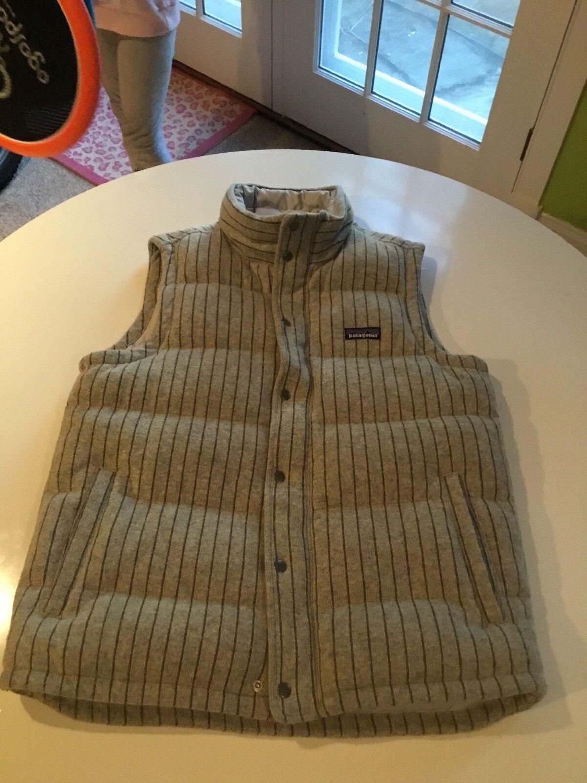 Rare Patagonia Merino Striped Quilt Again Vest  Herren M