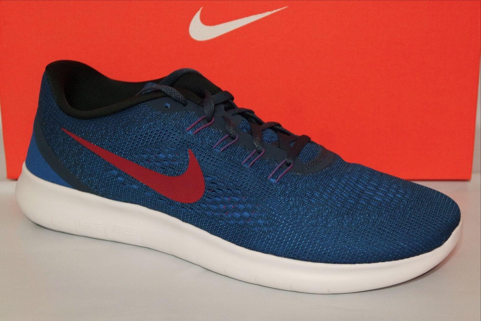 Nike libera rn uomini scarpe da corsa, blu / rosso / nero, palestra, 831508 406