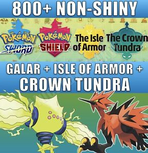 Pokemon Sword + Shield COMPLETE Pokedex all Gen 8 NON-SHINY Legendary and Events