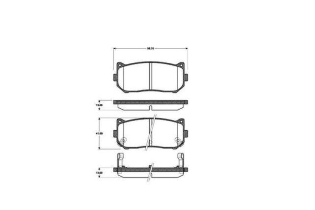 Bremsbelagsatz Scheibenbremse Eurobrake 5502223503