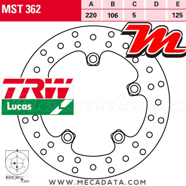 Disque de frein Arrière TRW Lucas MST 362 Yamaha YZF 1000 R1 (RN22) 2009