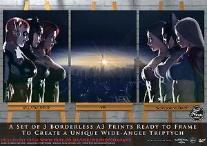Supergirl-Batgirl-Wonder-Woman-Harley-Quinn-Catwoman-Poison-Ivy-Gotham-x3-Prints