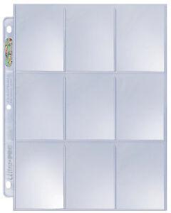 25 Ultra Pro Platinum 9-Pocket Page Protector Sheets