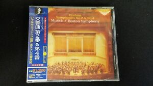 Sellado-Clasico-CD-Japan-w-OBI-Munch-Brahms-2-and-4-Boston-Simfonia