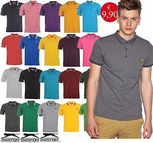 Maglia-Uomo-Polo-Slazenger-Maniche-Corte-Collo-Camicia-Maglia-T-shirt-Jean-slz1