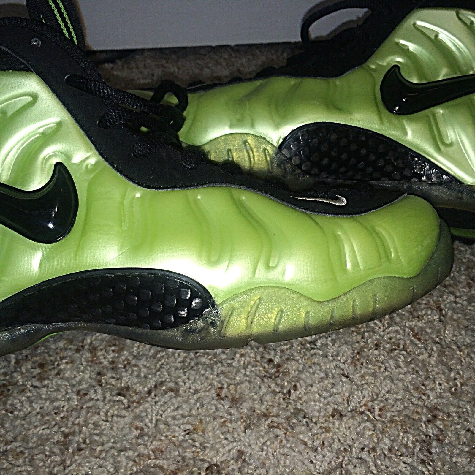 "2018 Nike Air Foamposite Pro ""Electric Green"" 624041 300 Great discount"