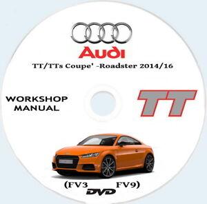 Workshop    Manual Audi TT Audi TTs Coupe   FV3  and Roadster  FV9  20142016   eBay