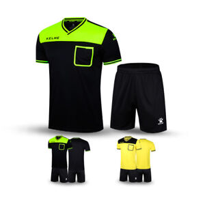 dc8370487ef Image is loading Kelme-Soccer-Referee-Jersey-with-Short-Professional- Football-