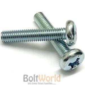 3mm Qty 5 Countersunk Phillip M3 x 16mm Zinc Plated Steel Machine Screw