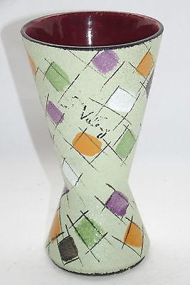 Antik Vase Diabolo Vintage 70' Design S Deutscher 1970 Signiert 389-17 Attraktive Mode
