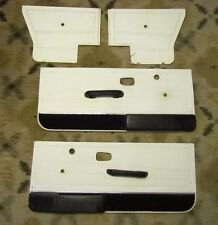 79 93 VW RABBIT CABRIOLET MK1 OEM FRONT WHITE & BLACK  DOOR PANEL L & R SET 4