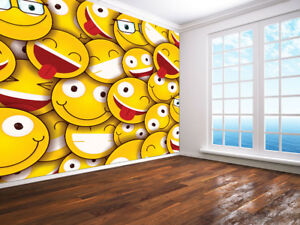 Smiley-faces-sticker-Wallpaper-wall-mural-124140-Emoji-style