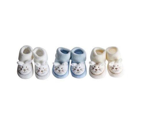 Nissanou 3 Chaussons bébé SOURIS garçon naissance grossesse maternité
